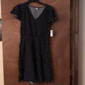 Old Navy women's size small black polka dot dress